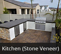 Outdoor Kitchen with Stone Veneer Project