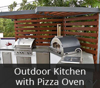 Outdoor Kitchen with Pizza Oven Project