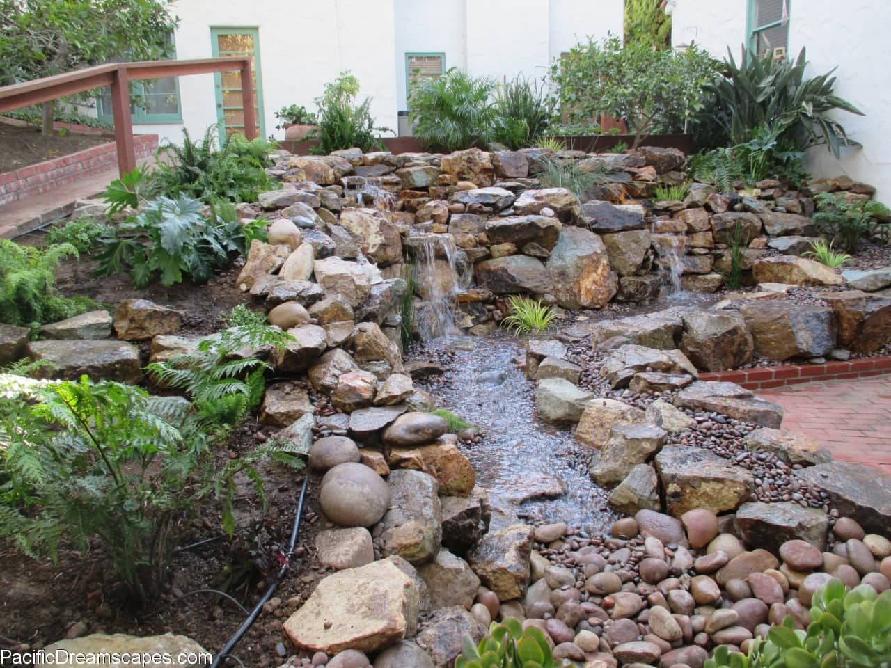 Backyard Design San Diego backyard design san diego del sur french country home backyard traditional patio san model Charles Doyle Pondless Waterfall