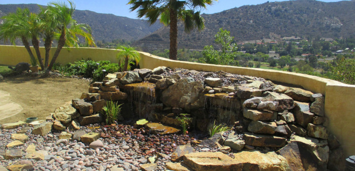 Pondless Waterfall Installation in El Cajon, San Diego County