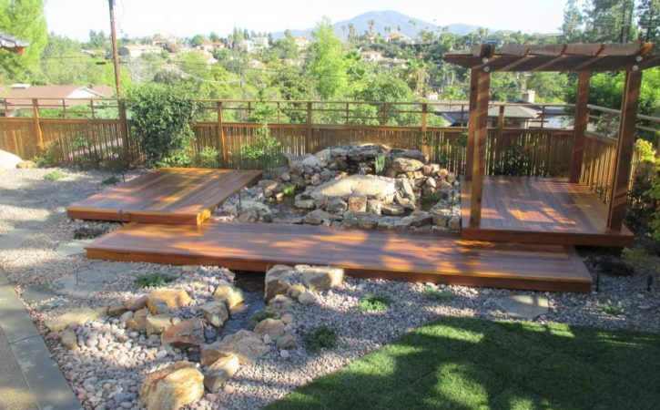 pondless waterfall construction in san diego