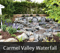 Pondless Waterfall in Carmel