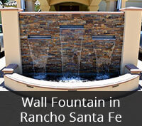 Wall Fountain Project in Rancho Santa Fe