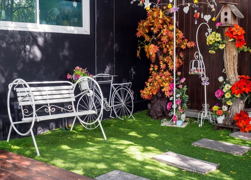 How do you stop artificial grass going flat?