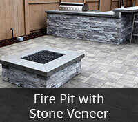 Fire Pit with Stone Veneer Project