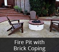 Fire Pit with Brick Coping Project