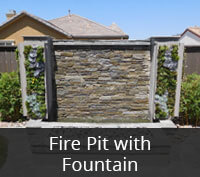 Fire Pit with Fountain Project