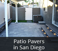 Patio Pavers Project in San Diego