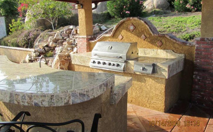 Outdoor BBQ Island Designs 4745