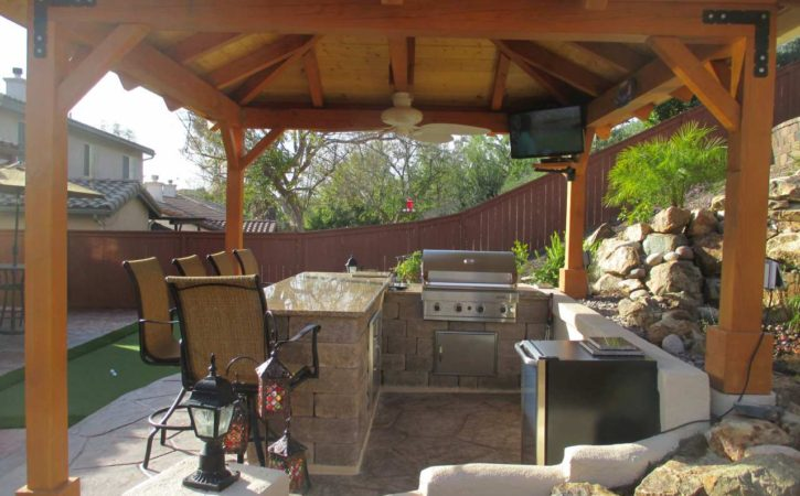 Outdoor BBQ Island Designs 4750