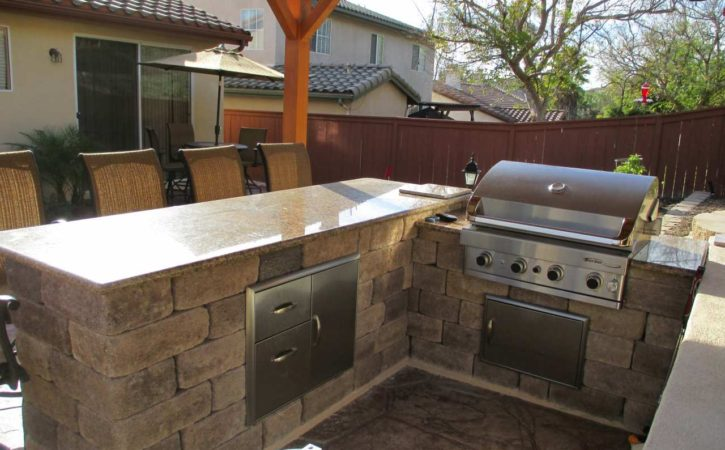 Outdoor BBQ Island Designs 4751