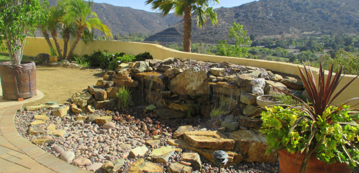 Pondless Waterfall Construction in El Cajon, San Diego County