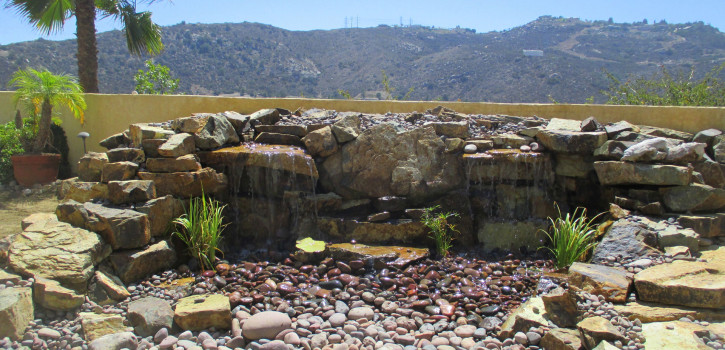 Pondless Waterfall Design in El Cajon, San Diego County