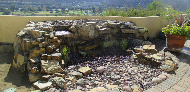 Pondless Waterfall Landscaping in El Cajon San Diego County