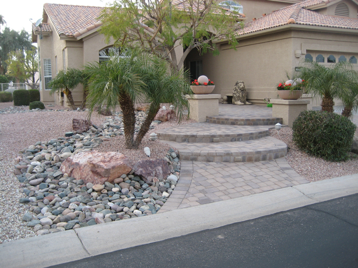 front yard xeriscape project pacific dreamscapes. Black Bedroom Furniture Sets. Home Design Ideas